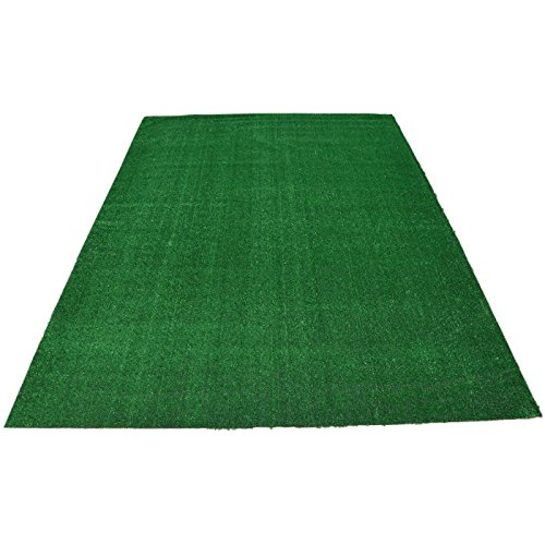 4' X 6.5' Indoor Outdoor Artificial Grass Green Area Rugs Synthetic Turf Carpets Rubber Backed with Drainage Holes