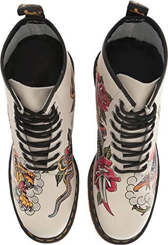 -Adult 1460 Grez 8 Eye Boot, Size: 11 D(M) US / 10 F(M) UK / 12 B(M) US, Color: White Backhand - Tattoo USA ()