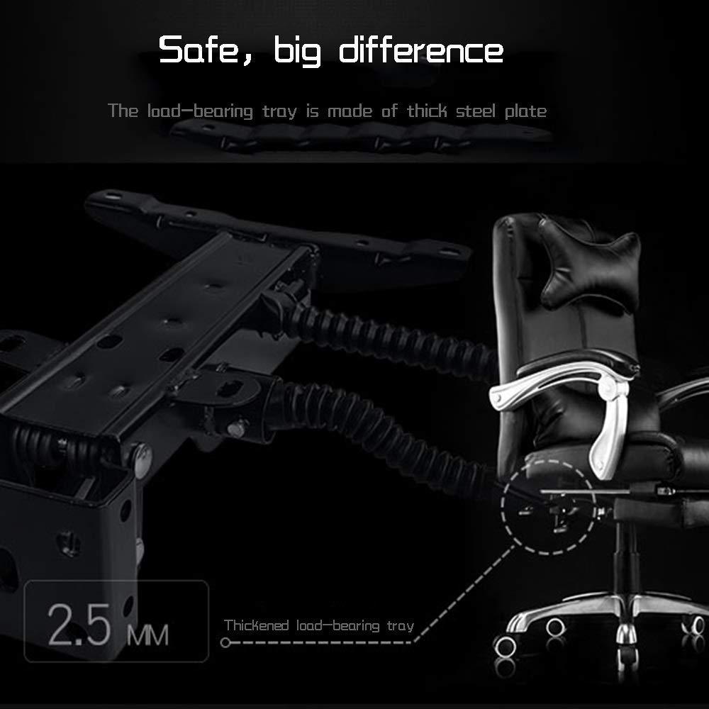 Dalovy bekväm läder dator skrivbordsstol, liggande kontorsstol justerbar höjd ergonomisk personalstol med nackstöd och ryggstöd BRUN
