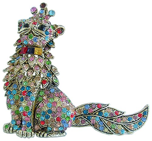 Sindary Lovely pretty cat brooch