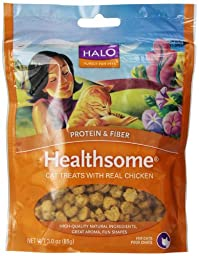 Halo Healthsome Natural Treats for Cats, Select Chicken, 3-Ounce