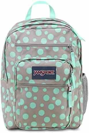 Jansport Big Student Backpack (Grey Rabbit/Aqua Dash Dots)