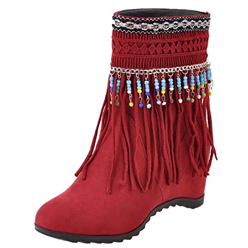 AIYOUMEI Women's Classic Boot Red z2vnx