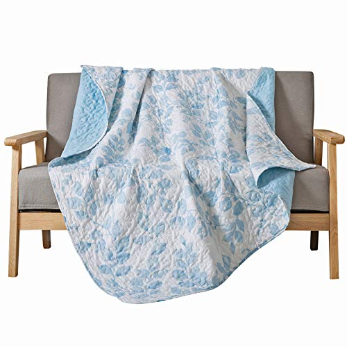 Soul & Lane Leaves on The Breeze Printed Quilted Throw Blanket (50