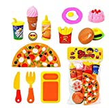 Kitchen Role Restaurant Role Pretend Play Fast Food Set pizza cutting