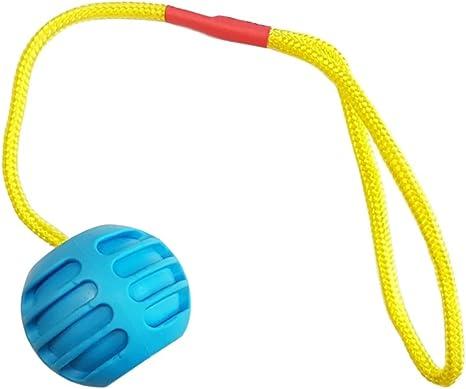 Pelota de goma dura con cuerda – Juegos para perro, de goma ...