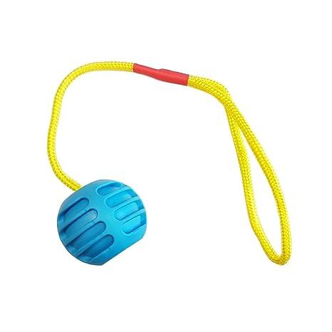 Pelota de goma dura con cuerda - Juegos para perro, de goma ...