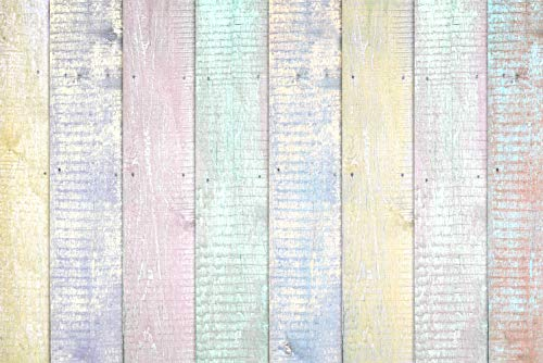 CYLYH 7x5ft Colorful Wood Backdrops Party Backdrop Children Photo Booth Shoot for Wood Floor Wall Background for Photographer Props D132 (Fence Backdrop)