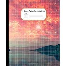 Graph Paper Composition Notebook: Grid Paper Journal: Quad Ruled 5 Squares per Inch (5x5) Beautiful Red Sky and Mysterious Lake Workbook for Math, Science, Design, Writing Practice, Sketching