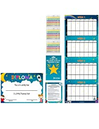 Potty Training Reward Chart – Multicolored Star Stickers Mark Behavior Progress – Motivational Toilet Training for Toddlers and Children – Great for Boys and Girls BOBEBE Online Baby Store From New York to Miami and Los Angeles