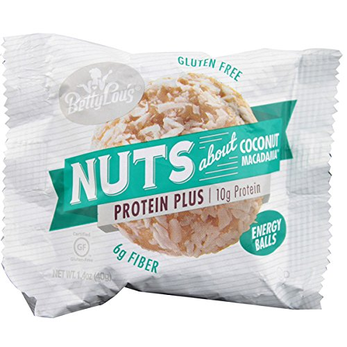Betty Lou's Energy Balls Nuts About Coconut Macadamia - 12 Balls (Best Tasting Protein Balls)