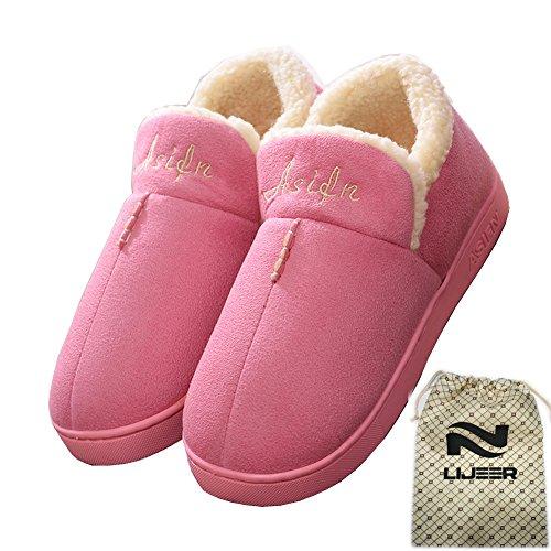 Lijeer all'Usura Resistente Memory di Pantofole Antiscivolo Asifn Invernale Rosa Accogliente Interni Lana Warm Foam Cotone trascinamento Casa qZ7T71