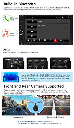 2019 Android 8 1 Oreo System 7 inch HD Car Stereo Head Unit GPS Navi Radio  Receiver 2din 2GB+32GB Octa Core in-car Video Music Player WiFi Bluetooth