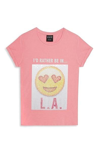 YD By Primark - Camiseta de manga corta - para niña rosa rosa Edad De Las Niñas 11-12: Amazon.es: Ropa y accesorios