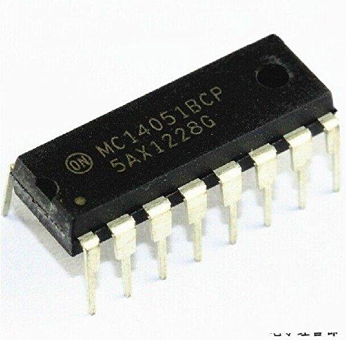 Quickbuying 5pcs MC14051BCP MC14051 16 PIN DIP Analog MULTIPLEXER/DEMULTIPLEXER