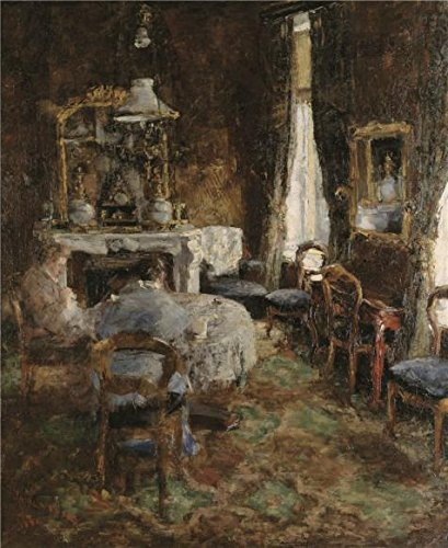 The High Quality Polyster Canvas Of Oil Painting 'James Ensor - The Bourgeois Salon,1881' ,size: 30x37 Inch / 76x93 Cm ,this Best Price Art Decorative Prints On Canvas Is Fit For Gym Gallery Art And Home Artwork And Gifts]()