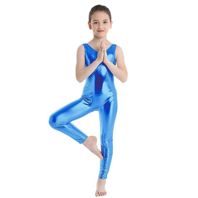 iiniim Maillot Ballet Niña sin Mangas Body Pantalon Larga Leotardo ...