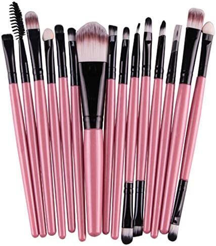 Gotime 化粧筆 15ピース 長いハンドル 柔らかい 非皮膚刺激 メイクアップブラシ,#2