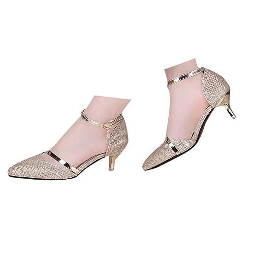7979e77bb48 Amazon.com: Veodhekai Womens High Heels Sandals Pointed Toe Wild ...