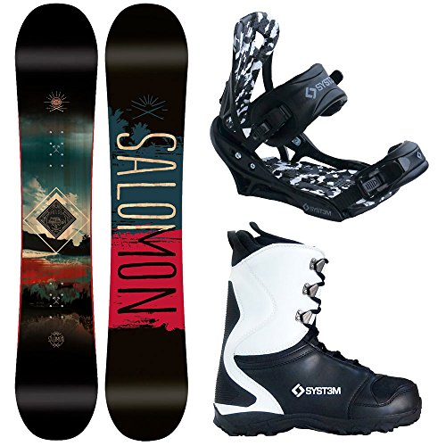Salomon Pulse Men's Complete Snowboard Package w/APX Boots and Bindings