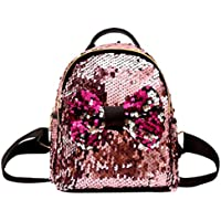 Inkach Womens Backpack Purse - Fashion Mini Sequins Travel Shoulder Bag School Bags Rucksack
