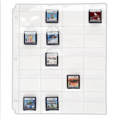 StoreSMART - 20 Pocket 3-Ring Binder Pages with Flaps - for Video Game Cards/Cartridges - 10-Pack - VH1173F-GAME-10 (Top Ten Best 3ds Games)