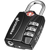 TSA Approved Luggage Locks, Fosmon Open Alert Indicator 3 Digit Combination Padlock Codes for Travel Bag, Suit Case, Lockers, Gym, Bike Locks or Other