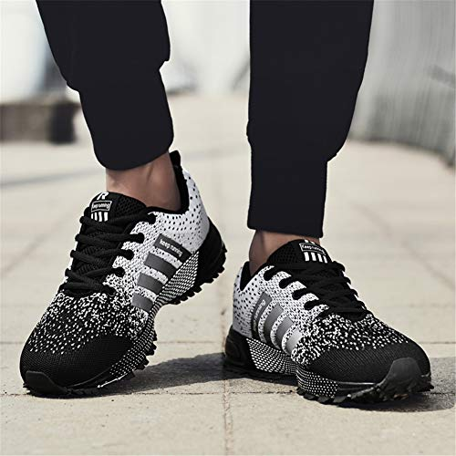 KUBUA Womens Running Shoes Trail Fashion Sneakers Tennis Sports Casual Walking Athletic Fitness Indoor and Outdoor Shoes for Women F Black Women 5 M US/Men 4 M US by KUBUA (Image #7)