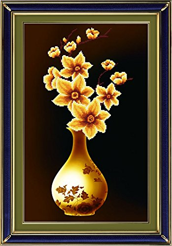 Starlit 71289- Yellow Flower DIY 3D Diamond Painting Rhinestone Embroidery Kit Mosaic Painting Size 46x69cm (18x27inch)