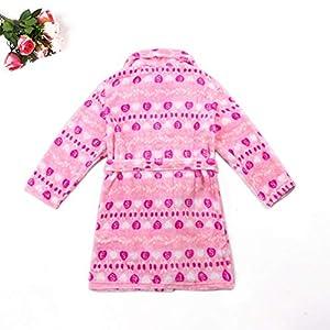 Cozy Flannel Self Tie Lapel Robe Pajamas for Boys Girls Winter Bath Homewear