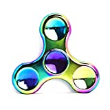 how lazy can you get - Rainbow Anti-Anxiety Fidget Spinner [Metal Fidget Spinner] Figit Hand Toy for Relieving Boredom ADHD, Anxiety