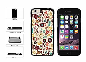 Retro Vintage Hipster Collage Plastic Phone Case Back Cover Apple iphone 4 4s inches screen) includes diy case Cloth and Warranty Label