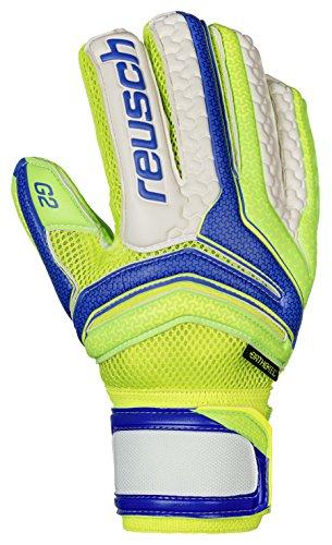 Reusch Soccer Reusch Serathor Prime G2 Ortho Tec Goalkeeper Glove, Green/Blue, 10 (G2 Goalkeeper Gloves)