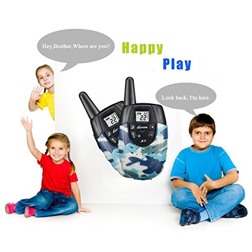 Walkie Talkies For Kids, Outdoor Toys For Boys Girls, Rechargeable Kid Walkie Talkie Long Range, Children Birthday Gifts, Camo (Pair)