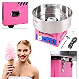 Koval Inc. 20'' Commercial Cotton Candy Floss Machine Maker Pink (Pink)