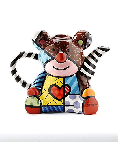 Romero Britto Teddy Bear Ceramic Teapot