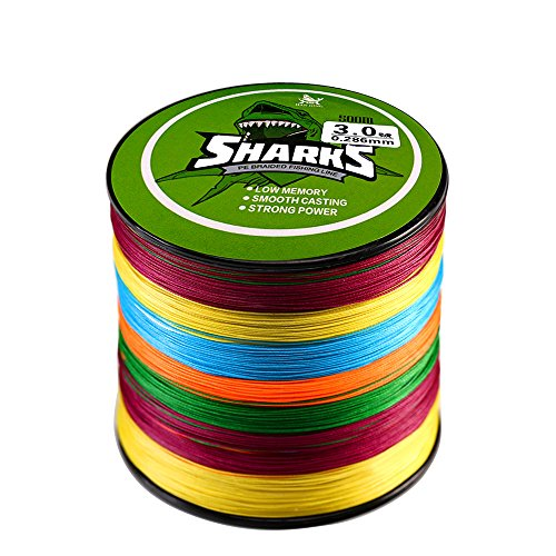 Handing Multi-color Braided Fishing Line 500m/547yd Thinner Diameter 18-96lb Fishing Tackle Zero Stretch 8 Strands Braided Fishing Line