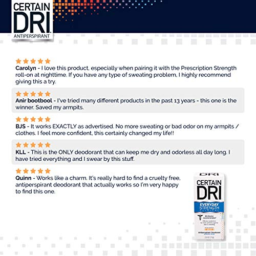 Certain Dri Everyday Strength Clinical Antiperspirant Deodorant for Men and Women (3pk), Effective All-Day Protection…