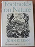Front cover for the book Footnotes on Nature by John Kieran