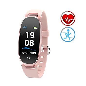 ZKCREATION Montre Connectée Femmes Écran Couleur Montre Tactile Sport Cardiofréquencemètre Etanche IP67 Tracker dActivité