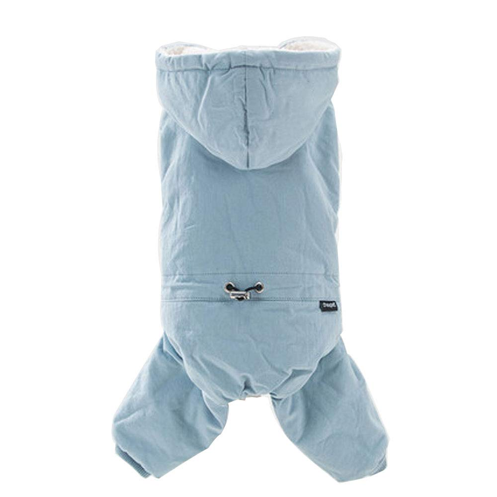 bluee S bluee S HUIFANG Puppy Dog Clothes Fall and Winter Clothes Than Bear Teddy Pet VIP Bomei Small Dog Puppies Four-Legged Clothes Thick Warm A (color   bluee, Size   S)