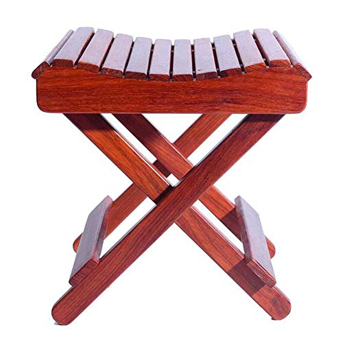 QIDI Stools Chair Maza Stool Solid Wood Simple Modern Easy to Carry Foldable Outdoor Fishing - No Need to Install (Size : H:29CM)