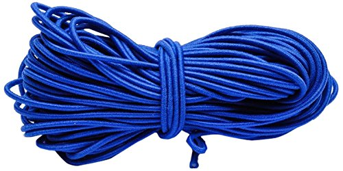 Beads Unlimited 1 mm Coloured Elastic, Pack of 10 m, Royal Blue EL17-10