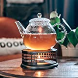 GROSCHE Nairobi Premium Teapot Warmer with tea lite candle. For glass teapot and other heatproof dish warming