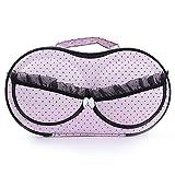 Roever Portable Fabric Travel Bra Storage Case Bra Protect Storage Box Organizer Underwear Case Travel Clothes Organizer