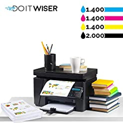 Do it wiser Compatible Toner Cartridge Replacement for Dell 1250c 1350cnw 1355cn 1355cnw C1760nw C1765nf C1765nfw (Multicoloured, 4-Pack)