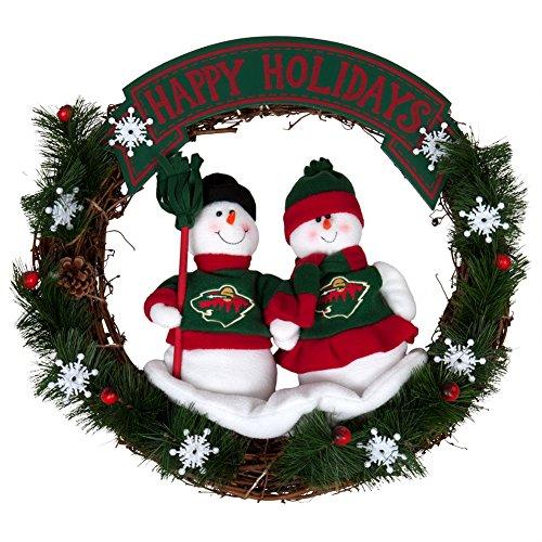 Minnesota Wild Snowman Wreath - Sc Sports Wreath