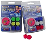 2 PACK!!! 6 Pair Putty Buddies WaterBlock Swimming Ear Plugs - Qty.2 3packs Included - Red, White, Blue Color Ear Plugs