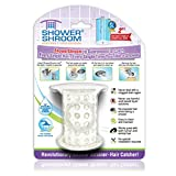 "ShowerShroom the Revolutionary 2"" Stand-Up Shower Stall Drain Protector Hair Catcher/Strainer, White"