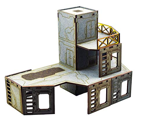 - WWG Industry of War Multi-Level Elevator Tower - 28mm Wargaming Terrain Model Diorama